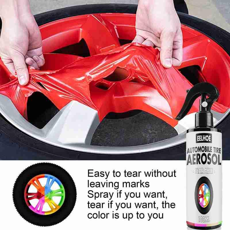 AliExpress - 100ml car wheel spray film, high quality waterproof discoloration, hand tear DIY spray film wholesale