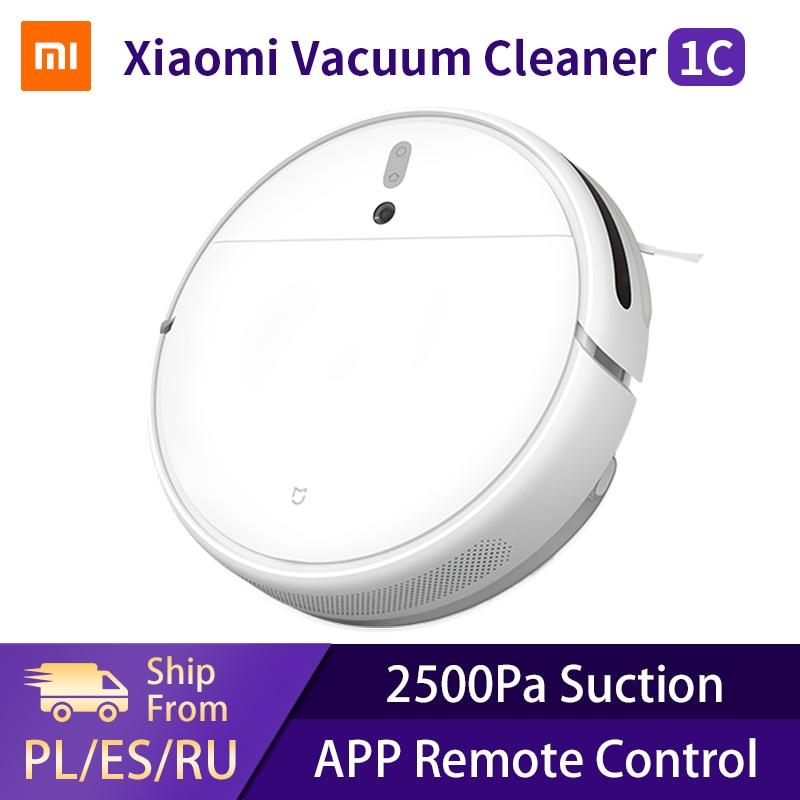 Xiaomi mi robô aspirador de pó 1c casa inteligente sem fio varrendo limpeza elétrica mop mijia tapete coletor pó robótico