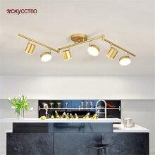 Nordique moderne pliable bras or métal Led piste lumière cuisine salon magasin intérieur luminaires industriels plafonds lampe