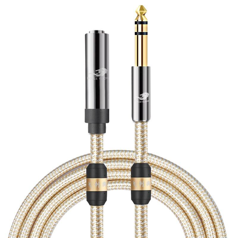 (1/4 pulgadas TRS) 6,35mm macho a hembra de Audio Cable de extensión...