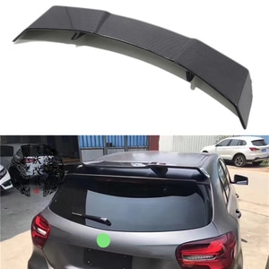 Use For Benz A Class W176 Roof Spoiler AMG 2013--18 Year Black Real Carbon Fiber Rear Wing RZ Style Sport Accessories Body Kit