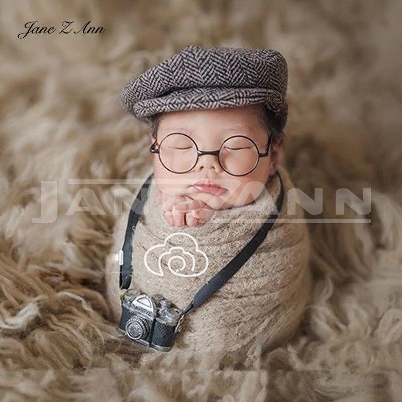 Jane Z Ann fotografía de recién nacido accesorios creación Caballero traje sombrero gafas infantil DIY accesorios estudio Accesorios