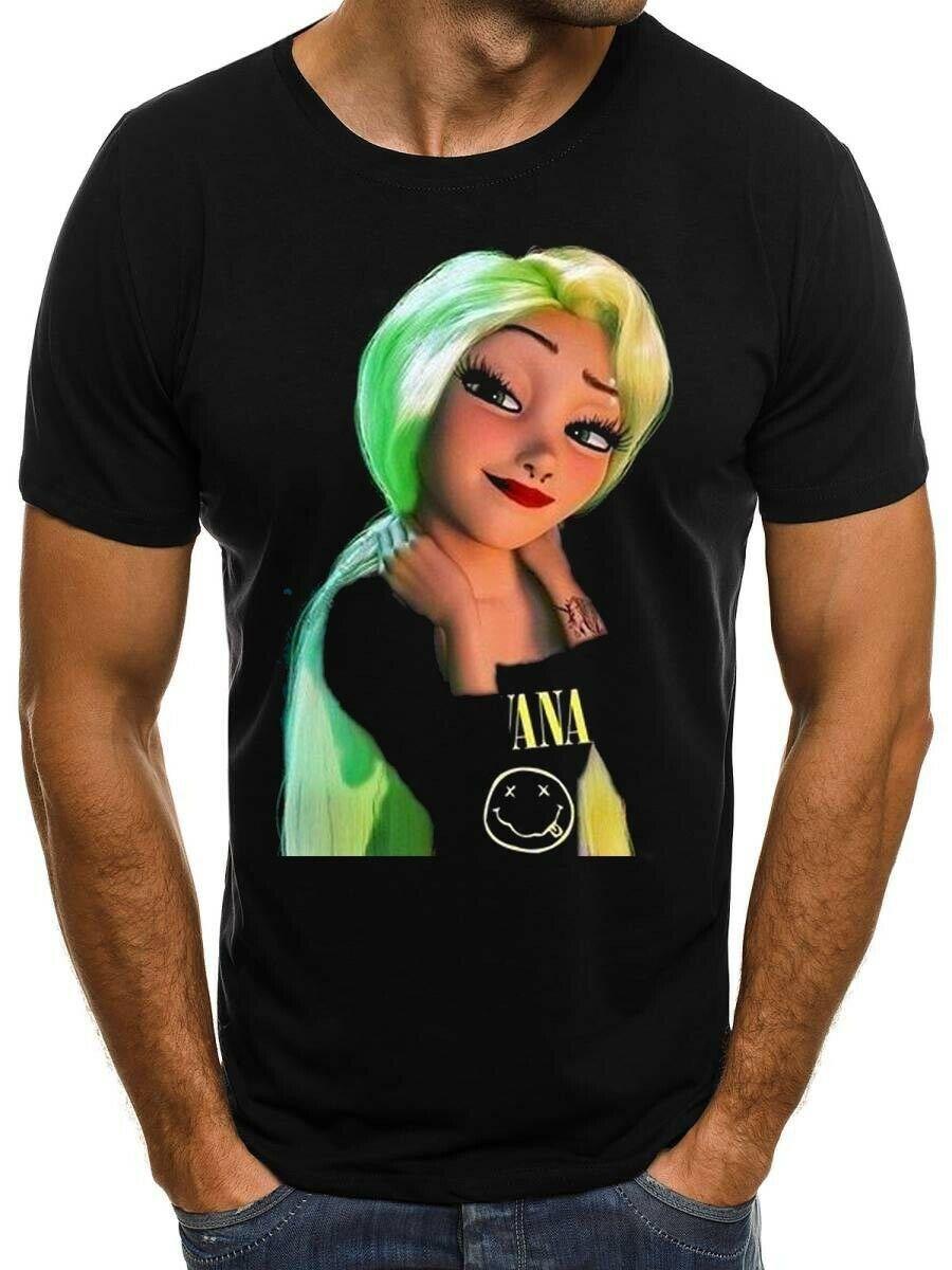 Tatouage fille Elsa paix bande dessinée mode T-shirt homme femme-montrer le titer original hommes T-shirt manches courtes col rond