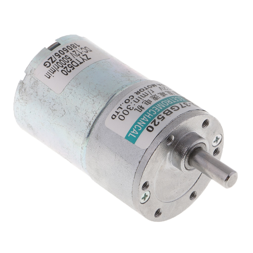 XD-37GB520 DC12V 10W 300RPM Micro Gear Motor High Torque Adjustable enlarge