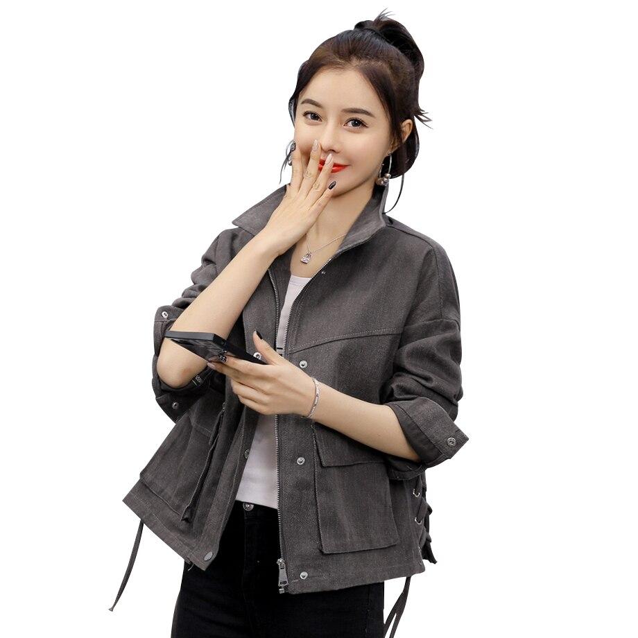 Chaqueta de mujer 2020 otoño nueva chaqueta de mezclilla femenina coreana Eay Match chaqueta de estudiante suelta