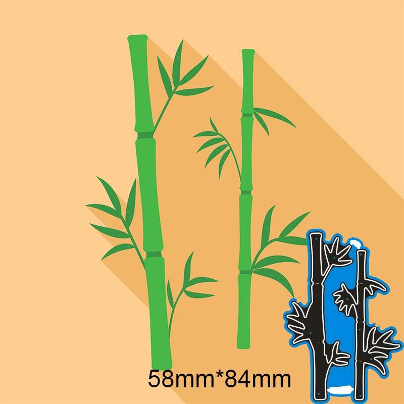 Metal steel Cutting Dies bamboo DIY Scrapbooking Photo Album Embossing paper Cards 58*84mm