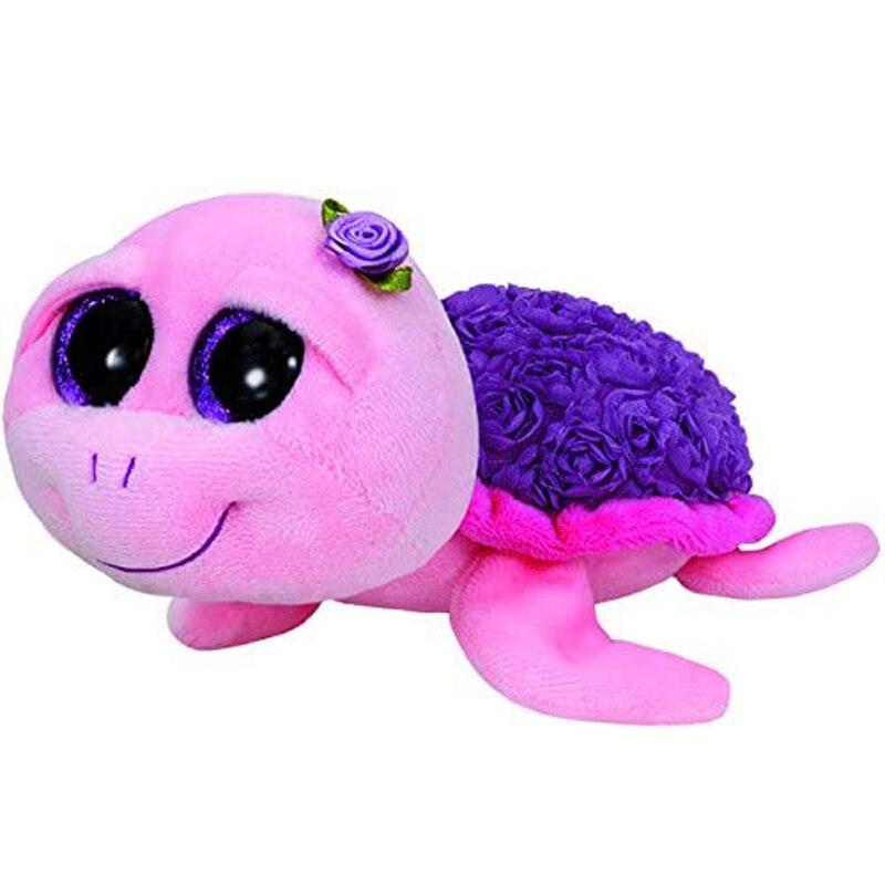 Ty rosie a tartaruga rosa brinquedos animais de pelúcia boneca recheada presente 15cm