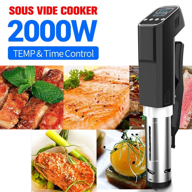 2000W Vacuum Slow Sous Vide Food Cooker 15L Powerful Immersion Circulator Machine LCD Digital Timer Display Stainless Steel