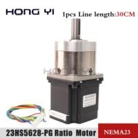 Usongshine 4-lead Nema23 Stepper Motor 57 motor Extruder Gear Stepper Motor Ratio 3.6:1 Planetary Gearbox Nema 23 23HS5628