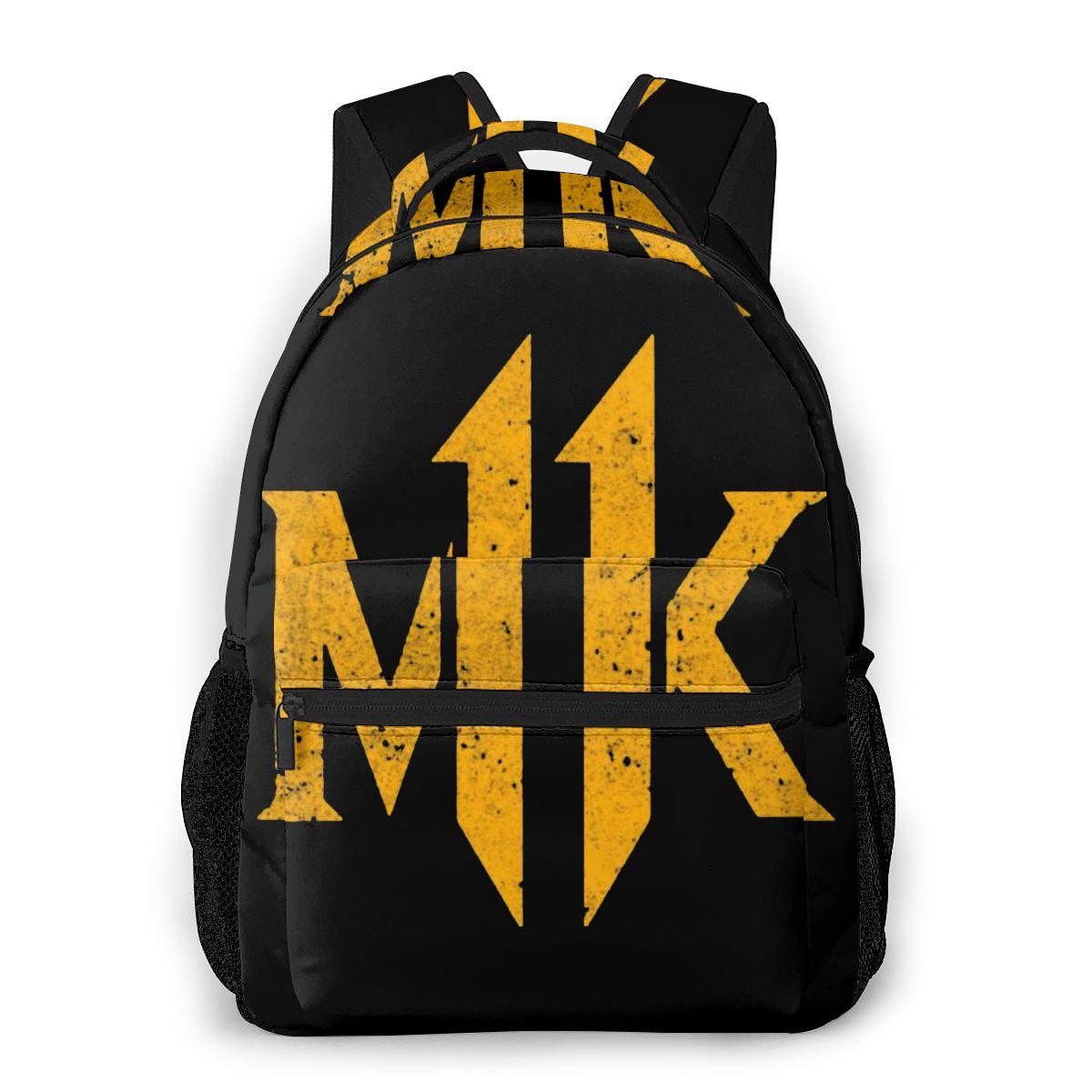 Mochila de viaje MK YELLOW para niños y niñas, bolsa de hombro estampada Mortal Kombat 11 para adolescentes