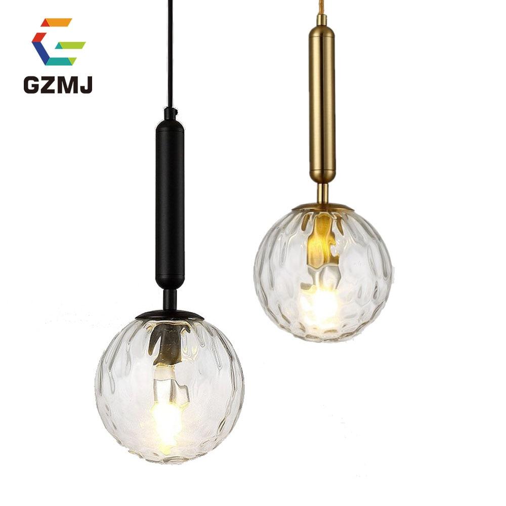 GZMJ  Suspension Wave Mike White Glass Ball Hang Modern Lamp LED Light Bedroom Bedside Lamp Restaurant Ligh