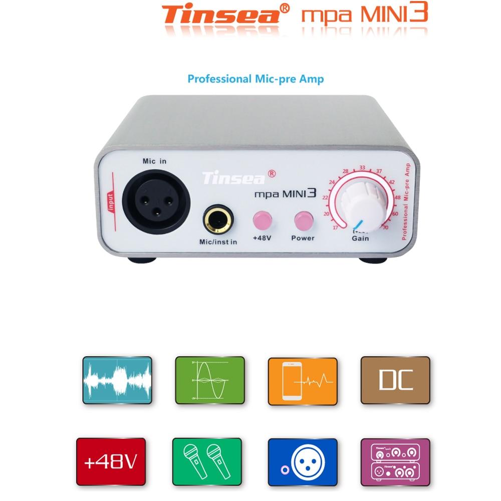 Tinsea mpa MINI3 Profession Mic-pre Amp for livestream sound card reverberation karaoke Dynamic Mircophone preamplifier for SM58