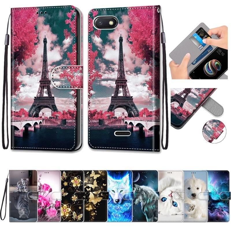 Caso para Xiaomi Redmi 6A caso de cuero Flip magnético cubierta de la carpeta para Redmi 6A 6 un teléfono bolsa caso Redmi6A de libro de lujo cubierta Coque