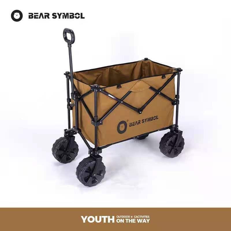 Outdoor Cart Portable Folding Hand-push Camping Camping Car Self-driving Baby Stroller Outdoor Furniture Garden Cart