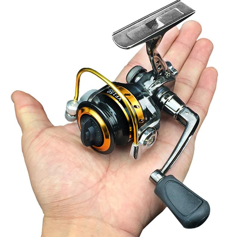 Nueva línea de pesca de hielo, Mini rueda giratoria de metal, aleación de zinc, pequeño carrete exquisito, tambor, carpa, Mosca, máquina de spooler