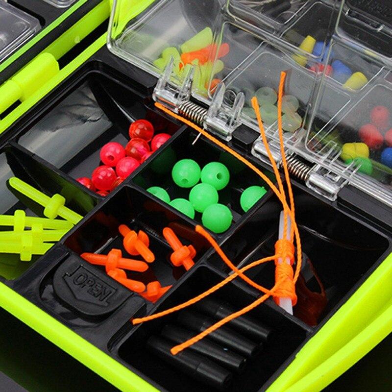 Rock Fishing Accessories Kit Metal Plastic Barbed Fishhook Swivel Space Bean Set enlarge