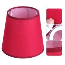 Abat-jour E14 ménage tissu Art lustre abat-jour lampadaire abat-jour lumière couverture lampe ombre pour lampes de Table livraison directe