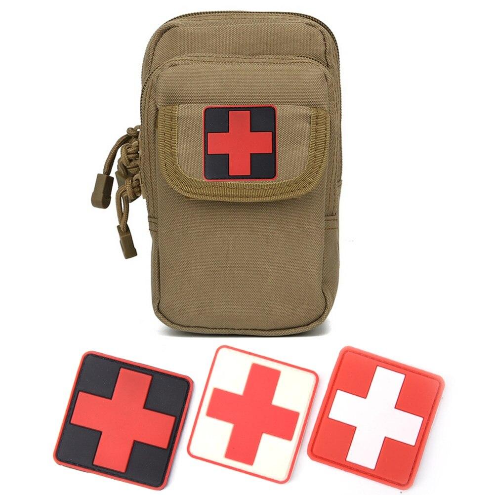 1 unidad 3D PVC caucho Cruz Roja bandera de Suiza suizo parche de Cruz médico militar táctico insignia militar