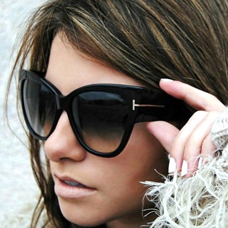 Cat eyes Sunglasses Fashion Women Flat Top Oversize Shield Shape Glasses Brand Design Vintage Sun gl