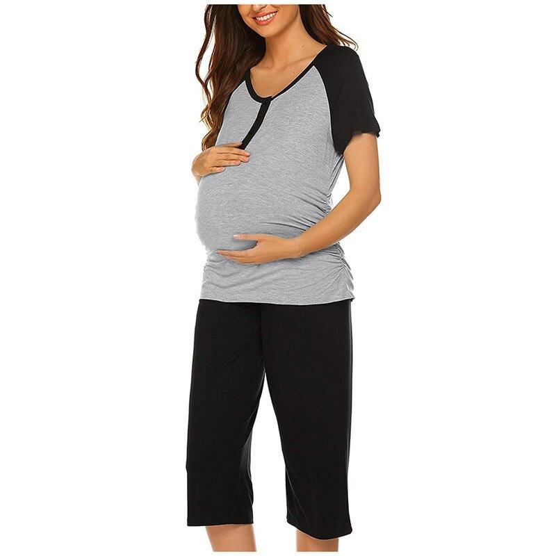 Pijama cuidado de maternidad para mujer, ropa de dormir de encaje de...
