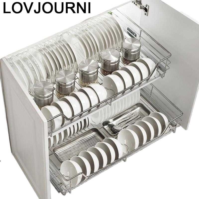 Armario-Accesorios de Cocina de acero inoxidable, organizador, Armario de Cocina, Cestas Para...