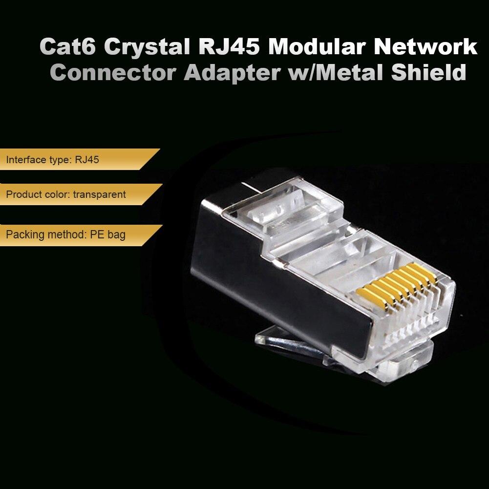 Cable Ethernet Cat6 RJ45, chapado en oro, práctico y cómodo módulo de...