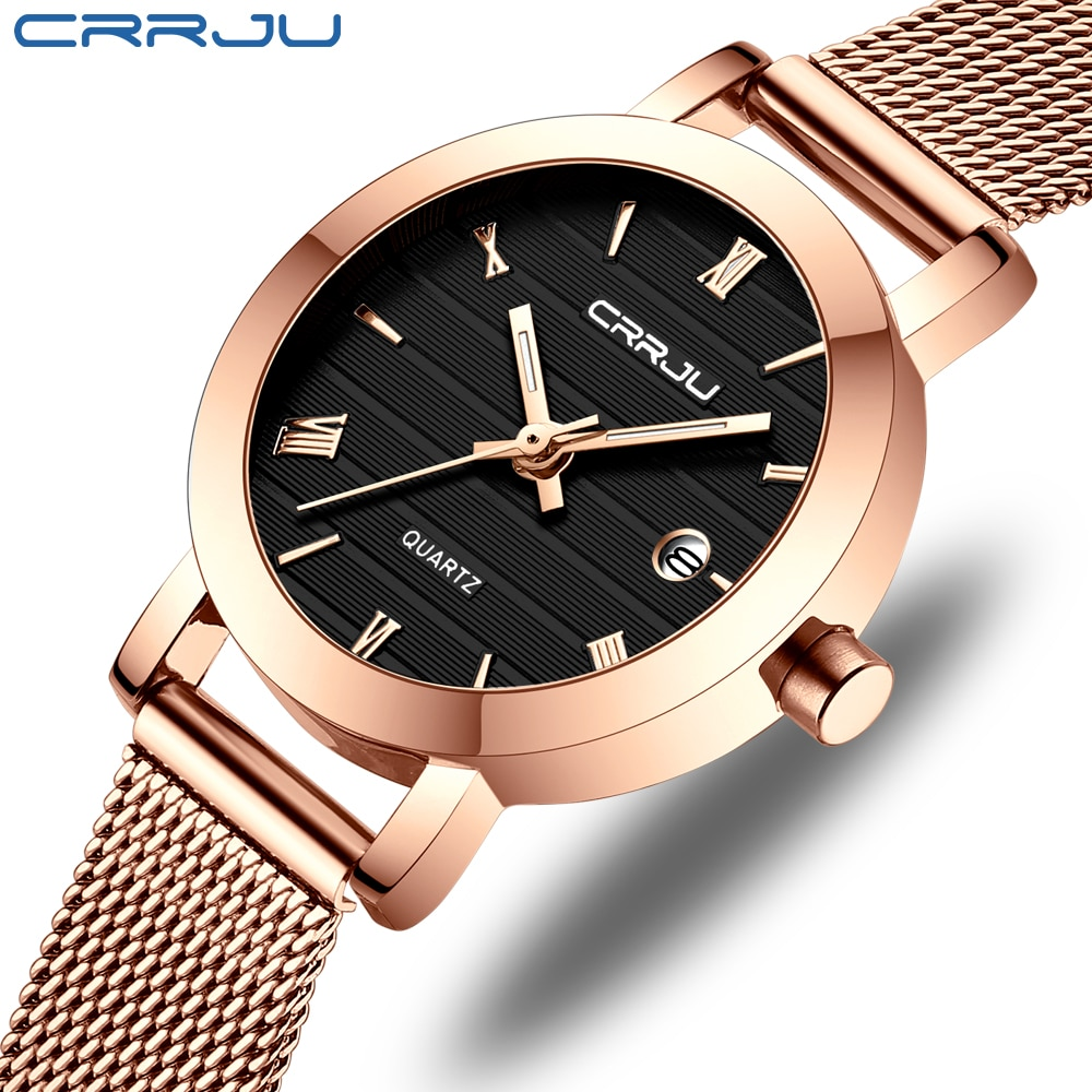 CRRJU Women's Watches 2020 Luxury Ladies Date Watch Fashion Stylish Waterproof Slim Quartz Watches for Women Reloj Mujer enlarge