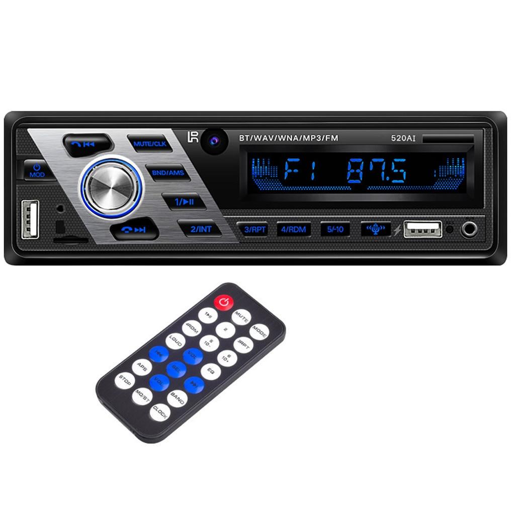 Radio Car CD Player Automotivo 1 Din 12V Bluetooth Autoradio Audio Auto Stereo USB AUX DVD VCD CD MP3 SD Card Radios T15