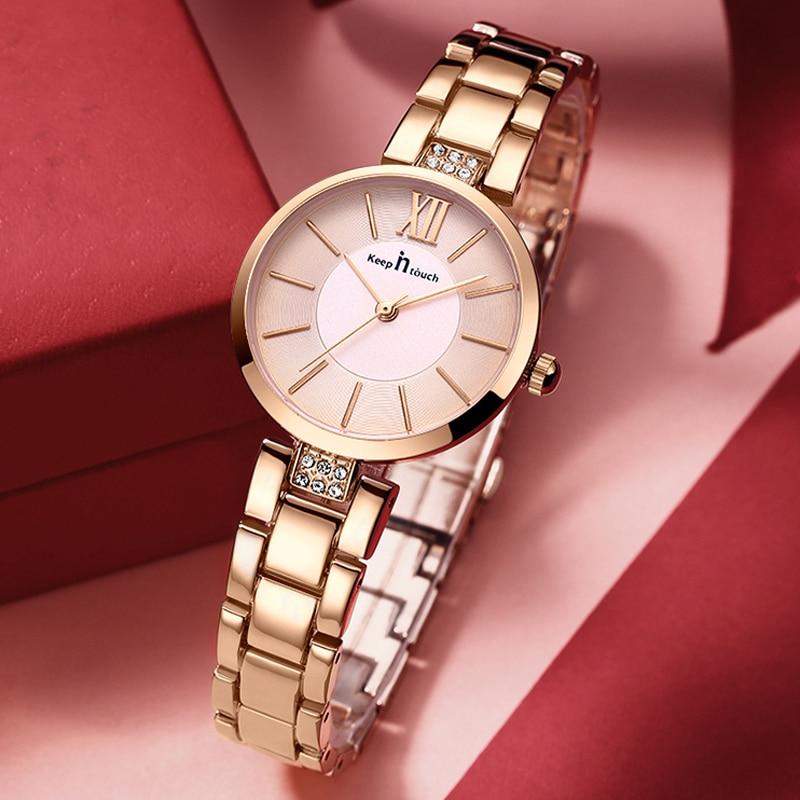 New Fashion Rhinestone Watch Women Quartz Watches Small Dial Wrist Watches For Women Casual Simple Female Wristwatch Reloj Mujer