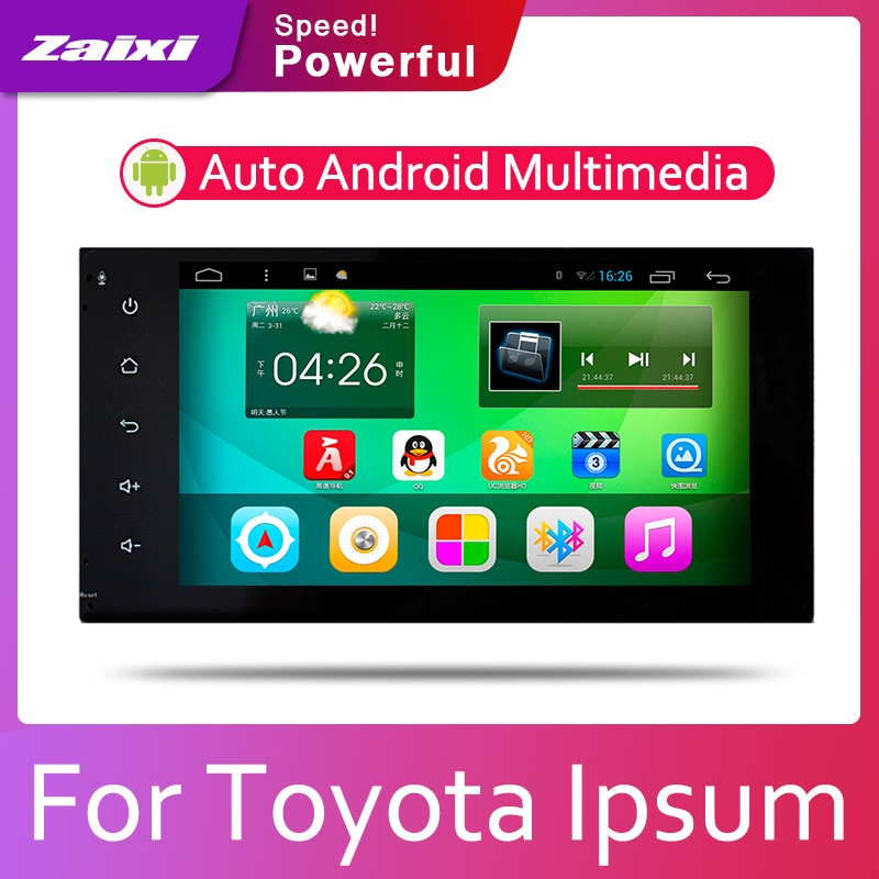 Reproductor Multimedia ZaiXi con radio de coche Android 2 Din, reproductor de vídeo estéreo para coche, mapa GPS para Toyota Ipsum 2001 ~ 2009, navegación Multimedia