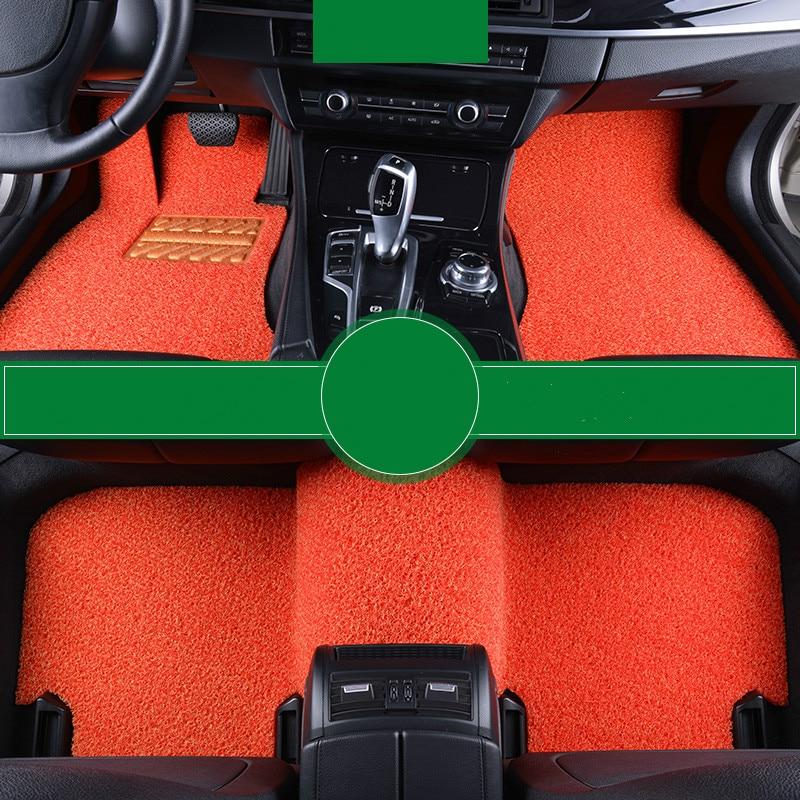 Wire Loop Carpets Waterproof Non Slip Durale Custom Car Floor Mats for Renault Fluence Koleos Megane Scenic Kadjar