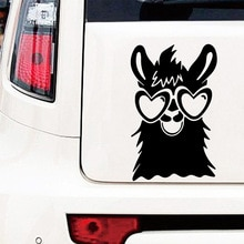 Car-styling Alpaca Stickers Voiture Waterproof Vinyl Funny Crazy Cat Car Sticker Accessories For Maz
