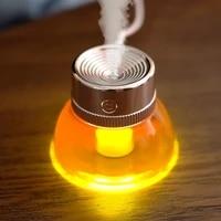 Humidificateur en bouteille USB  diffuseur ultrasonique dhuile essentielle et darome pour la maison  brumisateur  humidificateur dair  veilleuse LED souple