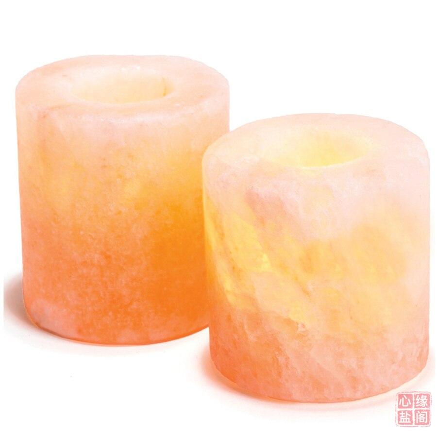 Portavelas de cristal, soporte de piedra para Velas, pieza central de cristal...