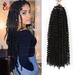 Leeons 6 Packs Synthetic Passion Twist Hair 18/22Inch Crochet Twist Hair Black Crochet Braiding Hair Synthetic Hair Extensions
