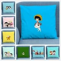 cartoon cute big head %ef%bc%88one piece%ef%bc%89soft short plush cushion cover pillow case for home sofa car decor pillowcase character 45x45cm