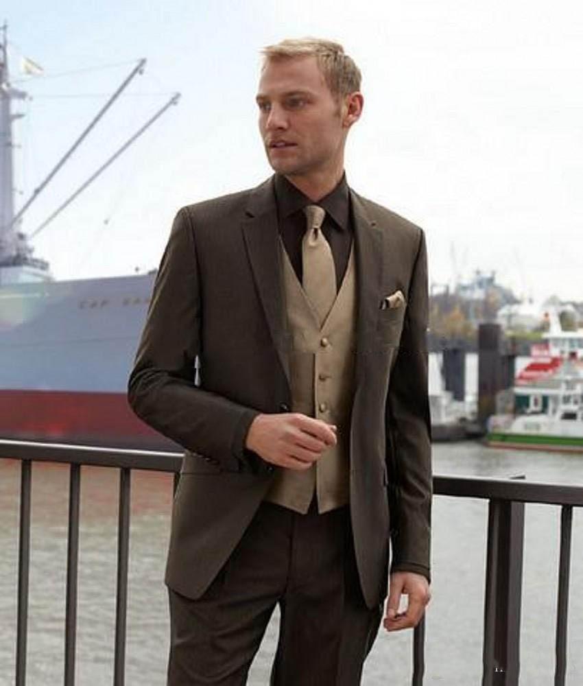 Мужской свадебный смокинг с отложным воротником, мужской пиджак, Костюмный пиджак, отличный 3-компонентный костюм (пиджак + брюки + жилет)