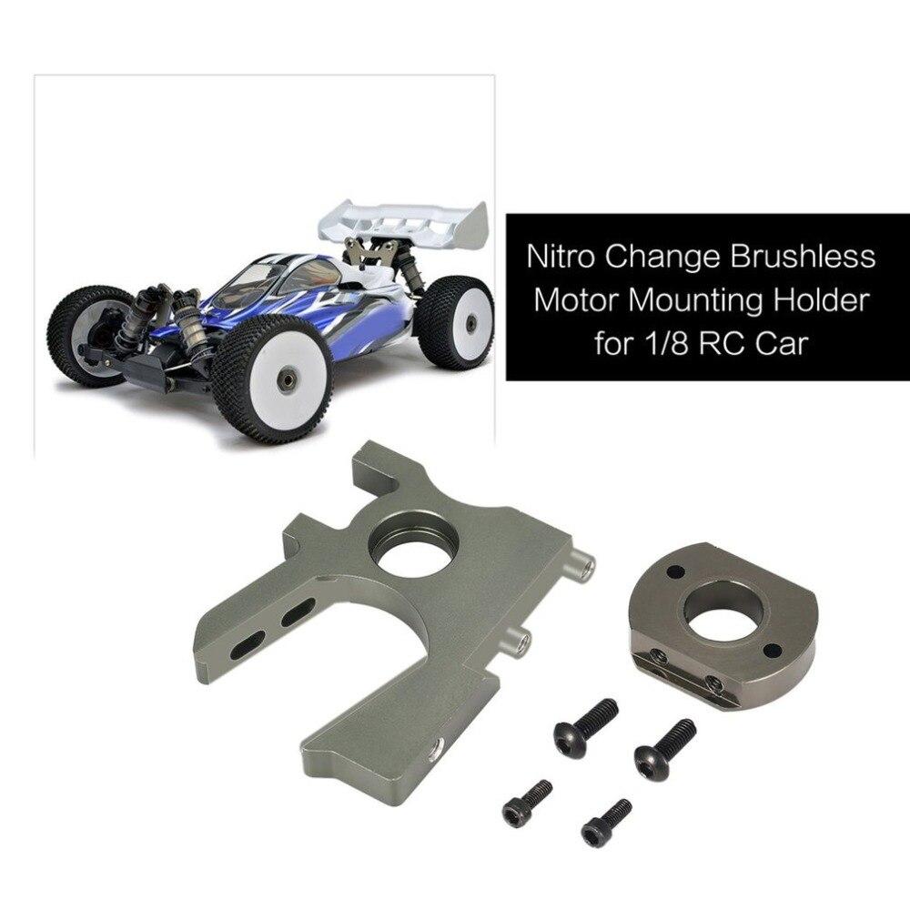 2019 Aluminium Alloy Nitro Change Brushless Motor Mounting Holder for 1/8 Scale Kyosho HSP FS Racing HOBAO RC Car hz