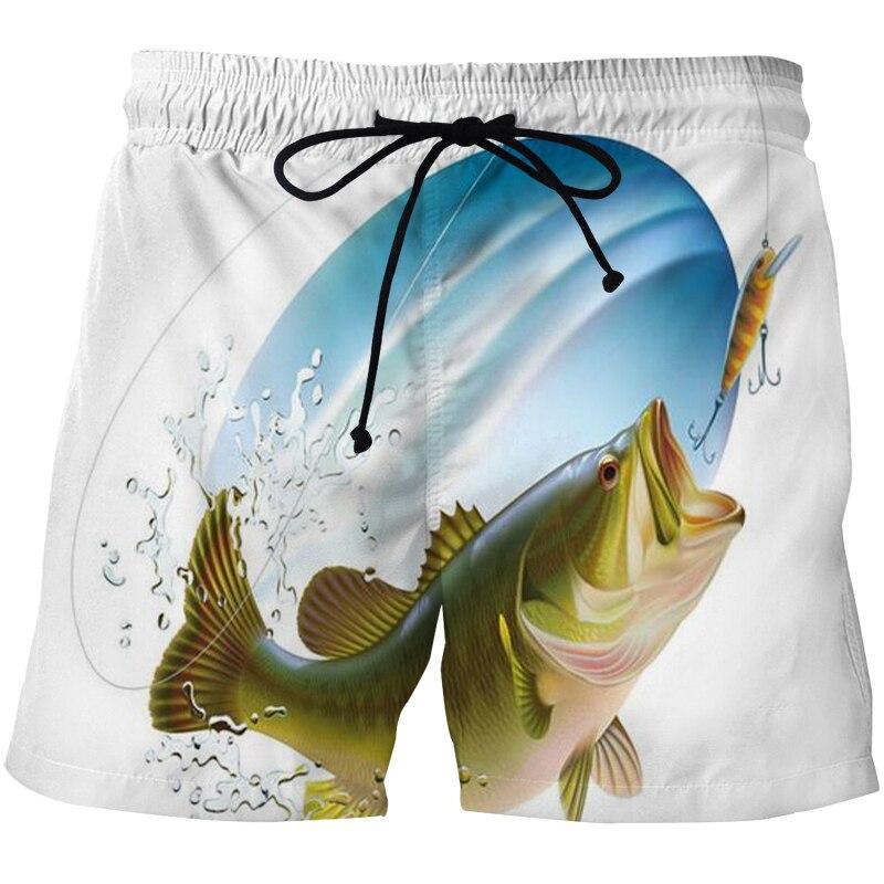 Новые мужские рыболовные пляжные Шорты 3D мужские Шорты повседневные спортивные Штаны летние дышащие Шорты быстросохнущие плавательные Шо...