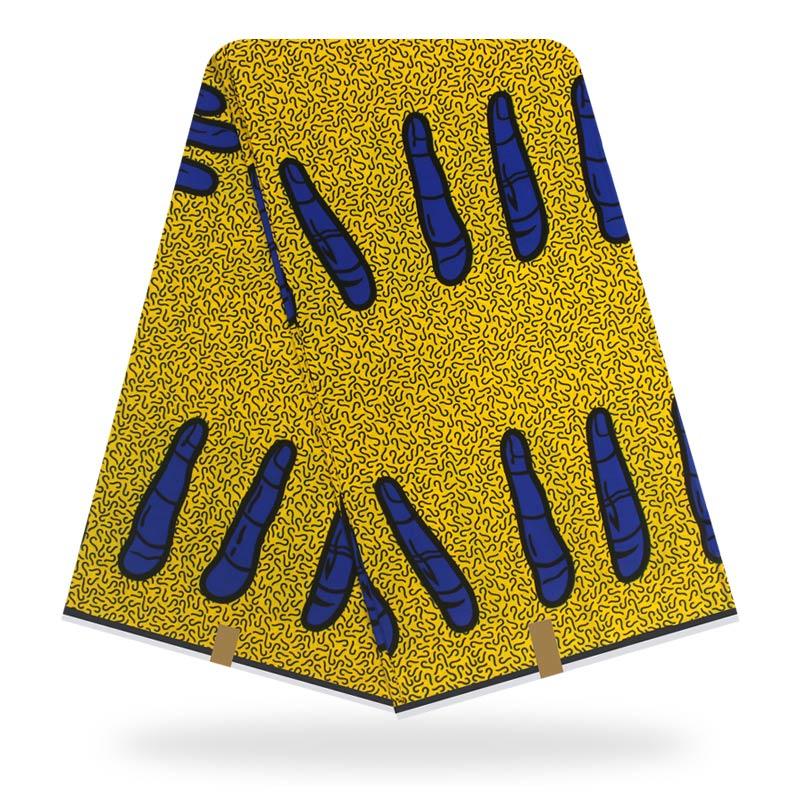 Tela de cera real Original tela africana 100% de algodón tela de impresión de cera ankara para vestido de mujer