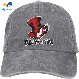 Persona 5 Hat Take Your Hear Commemorate Casquette Cap Vintage Adjustable Unisex Baseball Hat