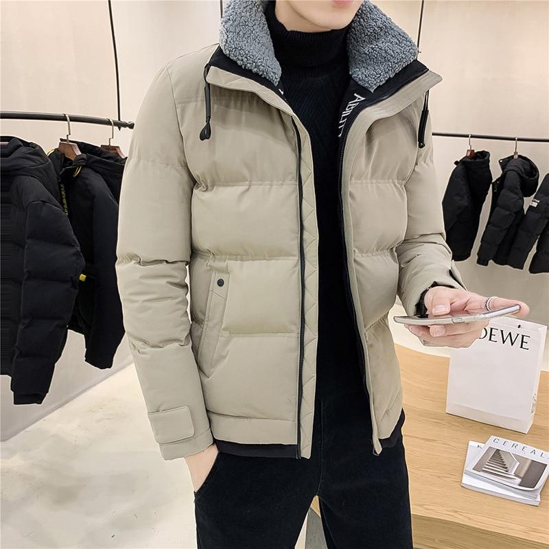 Мужская хлопковая зимняя новая стильная Корейская версия утепленная мужская куртка брендовая мужская одежда подходит ко всему