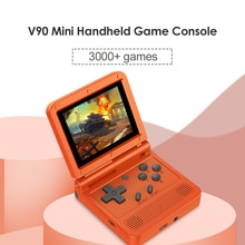 POWKIDDY V90 Mini Console de poche 3.0 IPS LCD rétro pliable Console de poche Rechargeable Portable poche Mini lecteur de jeu vidéo