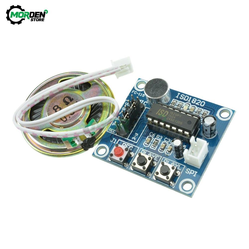 Прямая поставка, ISD1820 модуль записи голоса с микрофоном, звуковой, аудио, громкоговоритель, голосовой модуль, плата голоса