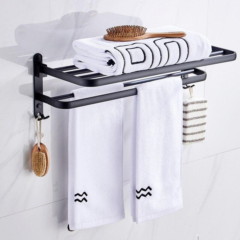 Set de accesorios de baño de aleación de aluminio negro para baño,...