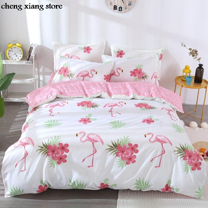 Juego de ropa de cama con estampado de pájaros, funda de edredón con 1 funda de edredón + 1/2 fundas de almohada (sin manta o sábana) CX005