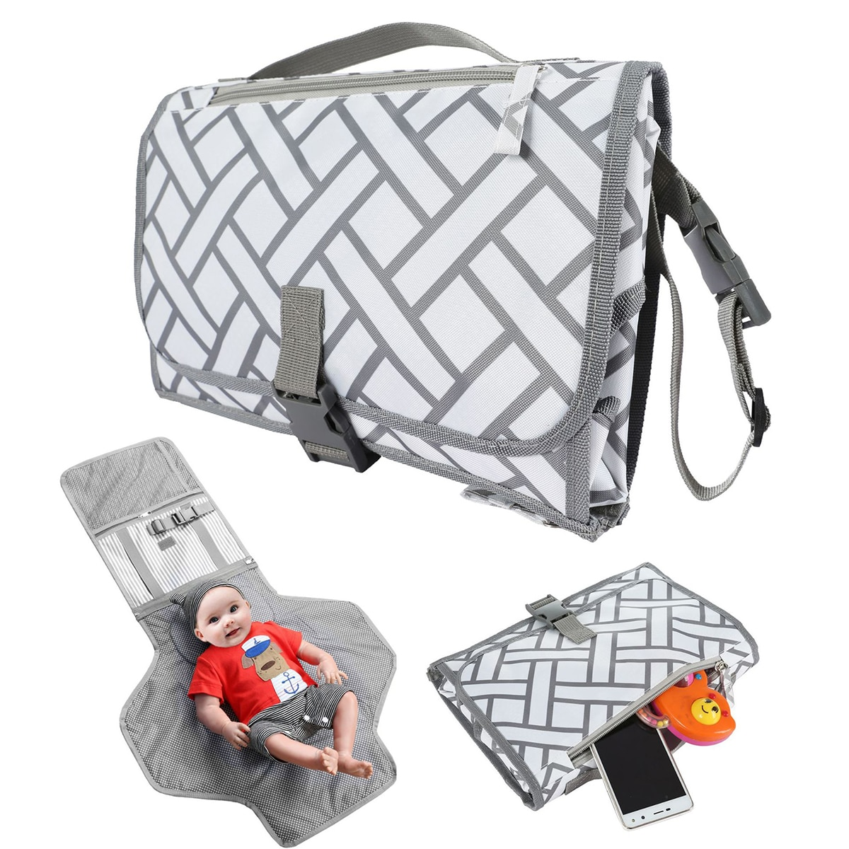 Baby Changing Pads Covers Portable Storage Bag Multipurpose Hanging Bag for Baby Carriage