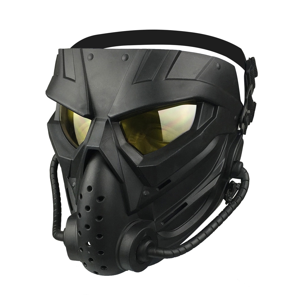 Tactical Masks Paintball Anti-Fog PC Lens Defensive Airsoft Mask Protective Combat War Games Face Cover Hunting Accessories
