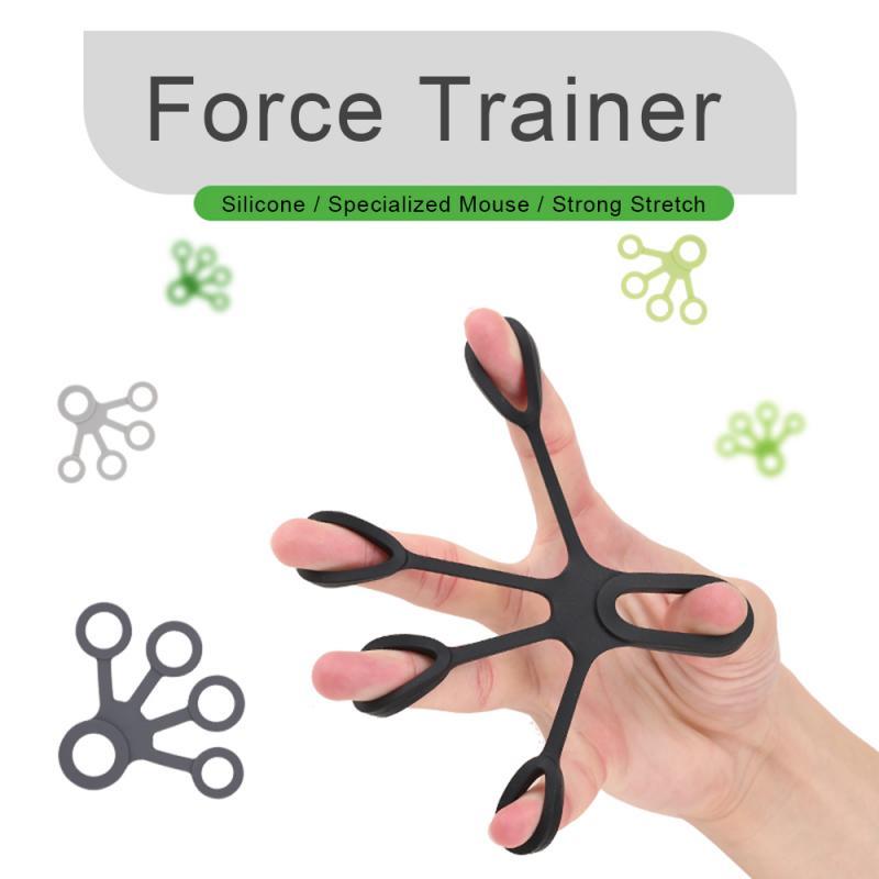 1pc novo 3 níveis dedo força exercitador silicone dedo pinça crossfit fitness dedo extensão força aperto treinamento anel