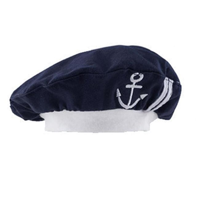 Baby Sailor Hat Infant Boys Girls Winter Hats Toddler Navy Style Cap Toddler Cosplay Halloween Cute Accessories